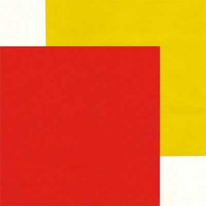 Yellow and vivid red, 6 inch (15 cm) square, 15 sheets, (ok855)
